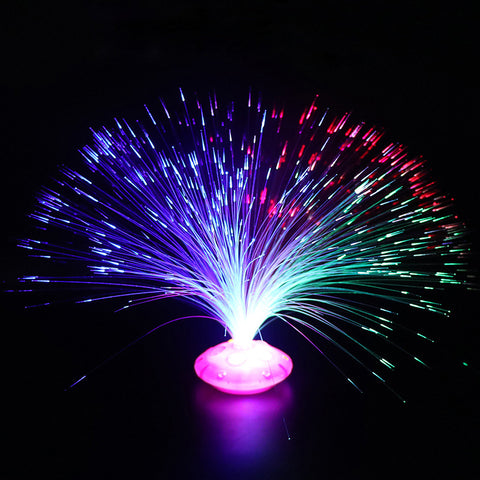 Glow In The Dark New Kids Toy 1PCS Color Optical Fiber Yarn Glowing Toys Flash LED Lights Stars Shine In The Dark Toys Child E