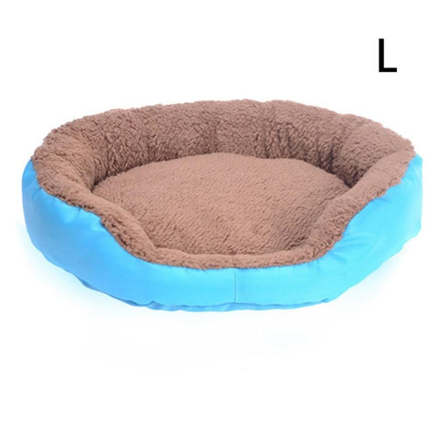 Pet Cat Dog Bed Round Autumn And Winter Warm Cat Dog Universal Beds Small And Medium-Sized Candy Color For Pet Cat Dog Bed