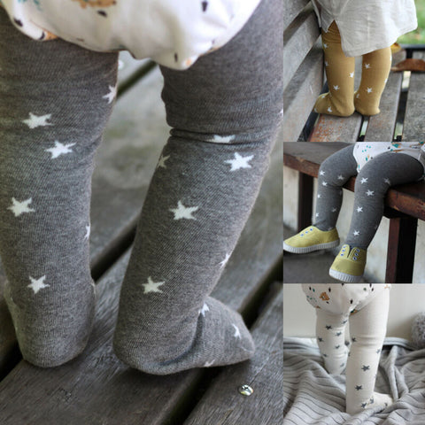 New Toddler Baby Kid Girl Bear Cotton Star Print Tights Casual Style Stockings Pants Hosiery Pantyhose