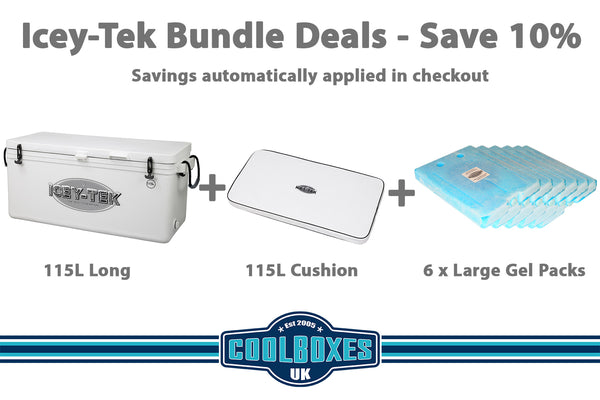 Icey-Tek 115 Litre Long Cool Box Bundle Deal
