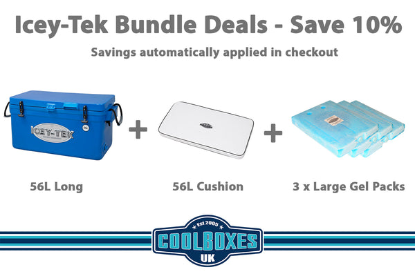 Icey-Tek 56 Litre Long Cool Box Bundle Deal