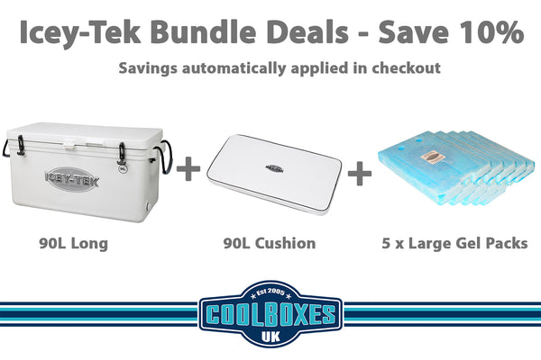 Icey-Tek 90 Litre Long Cool Box Bundle Deal