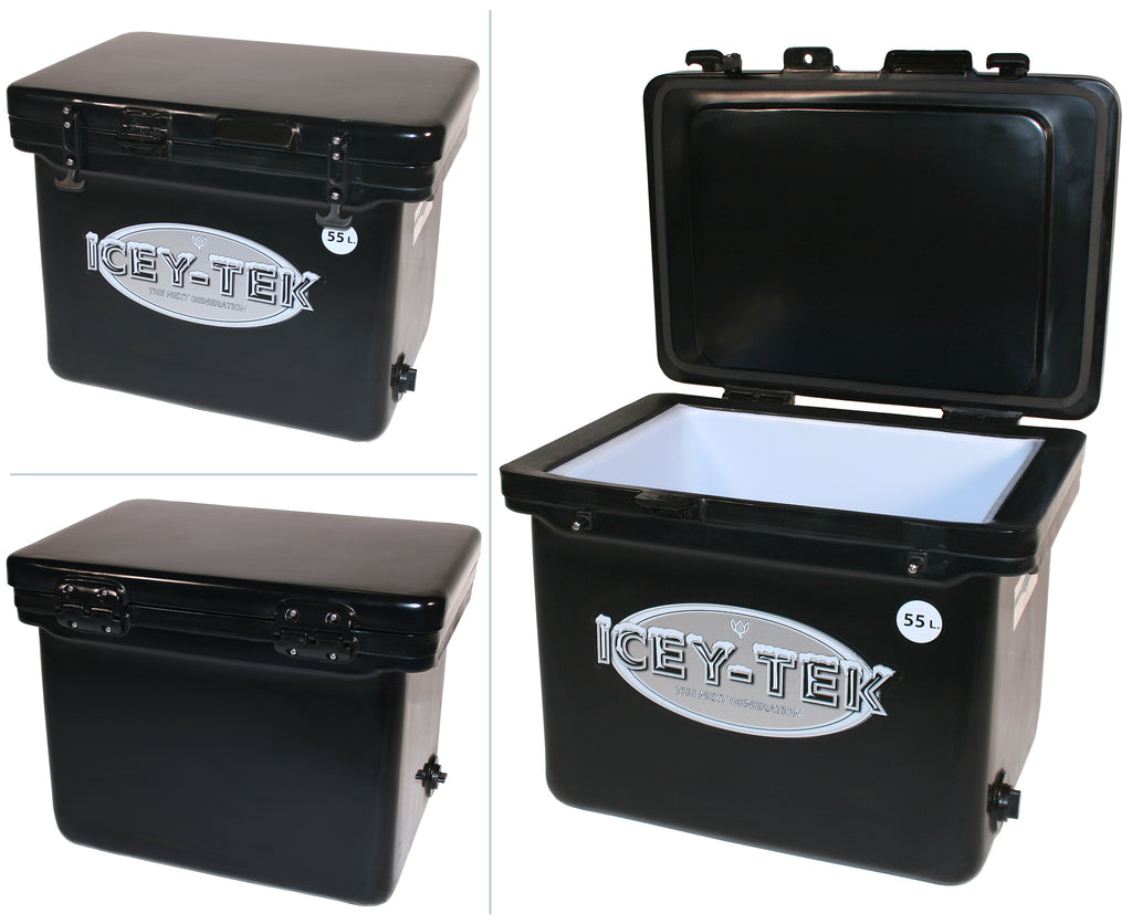 Icey-Tek 55 Litre Cube Cool Box In Black