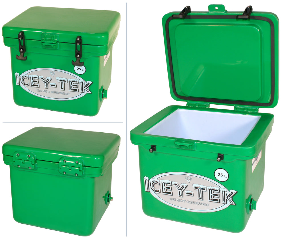 Forest Green Icey-Tek 25 Litre Cube Cool Box