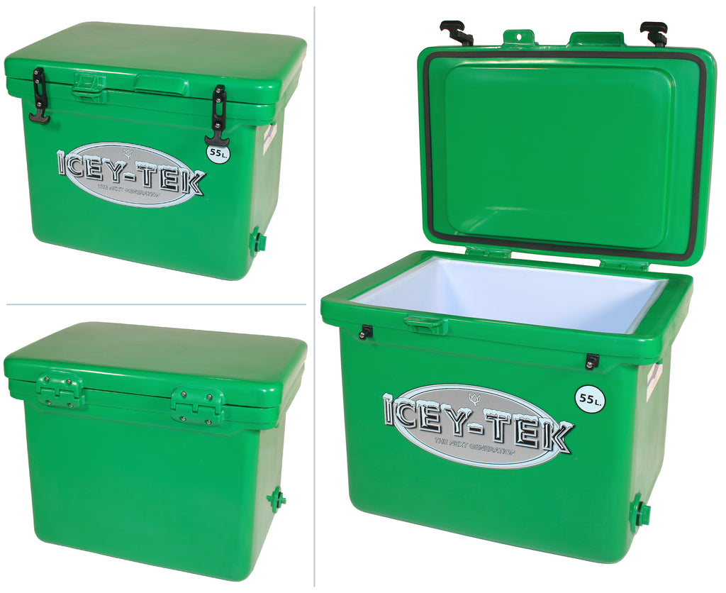 Icey-Tek 55 Litre Cube Cool Box In Forest Green