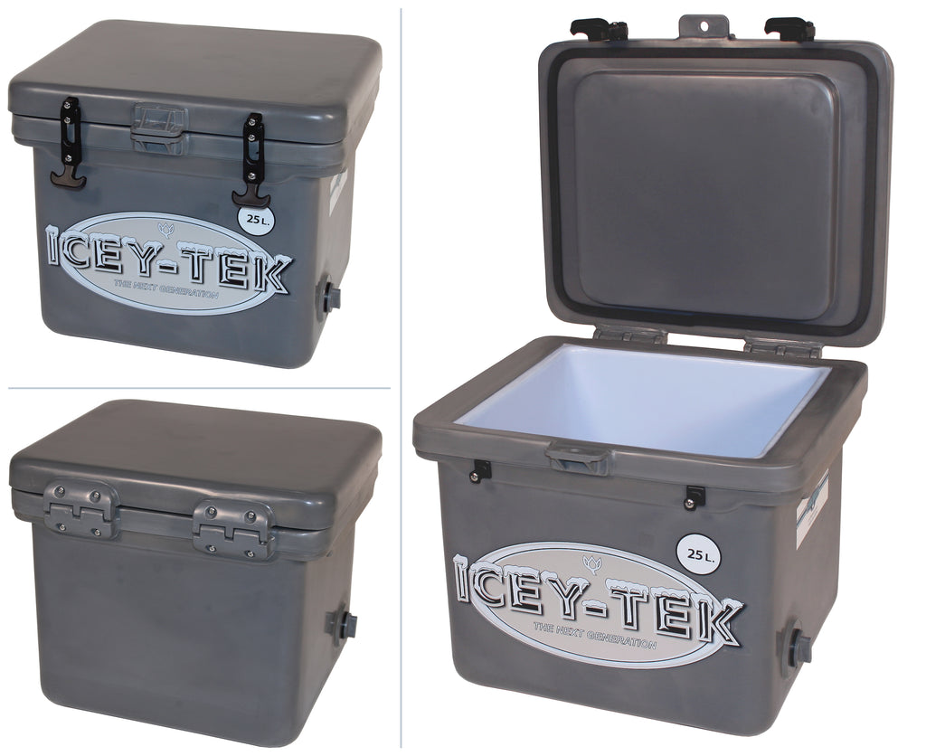 Grey Icey-Tek 25 Litre Cube Cool Box