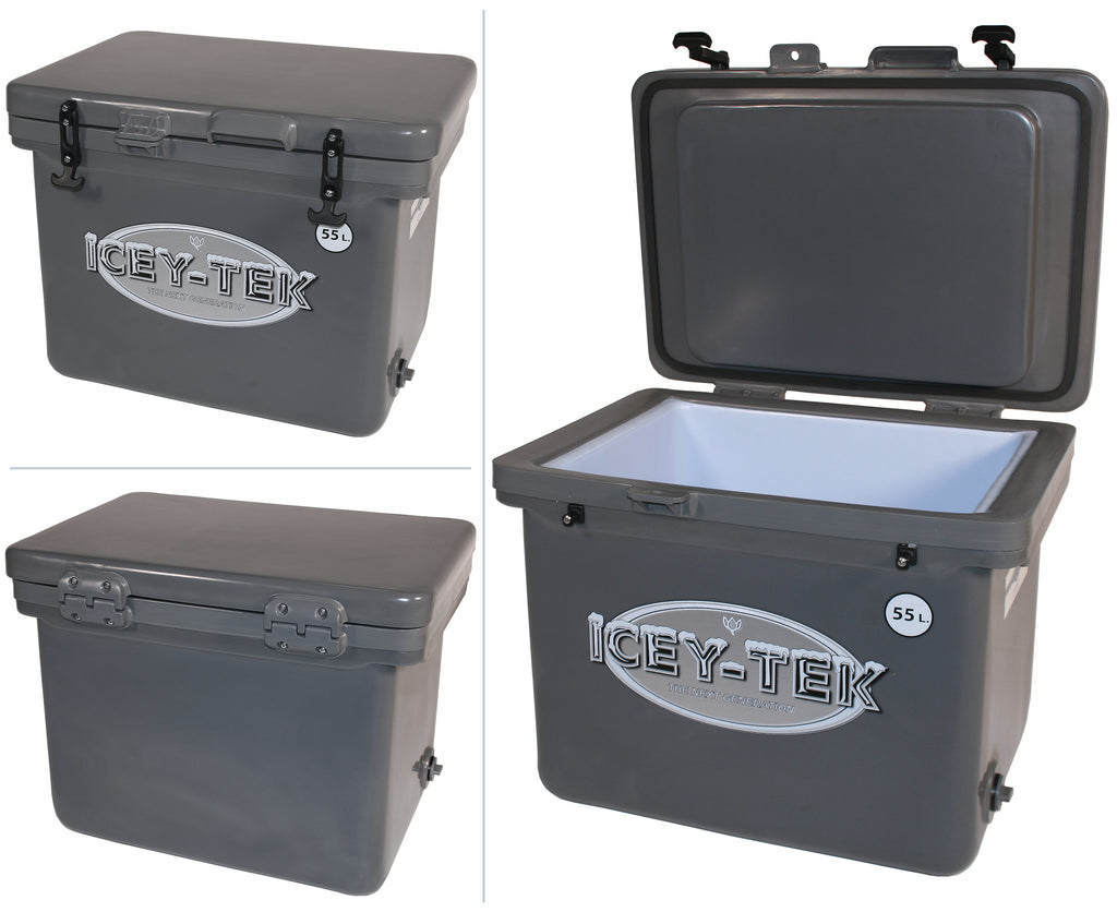 Icey-Tek 55 Litre Cube Cool Box In Grey