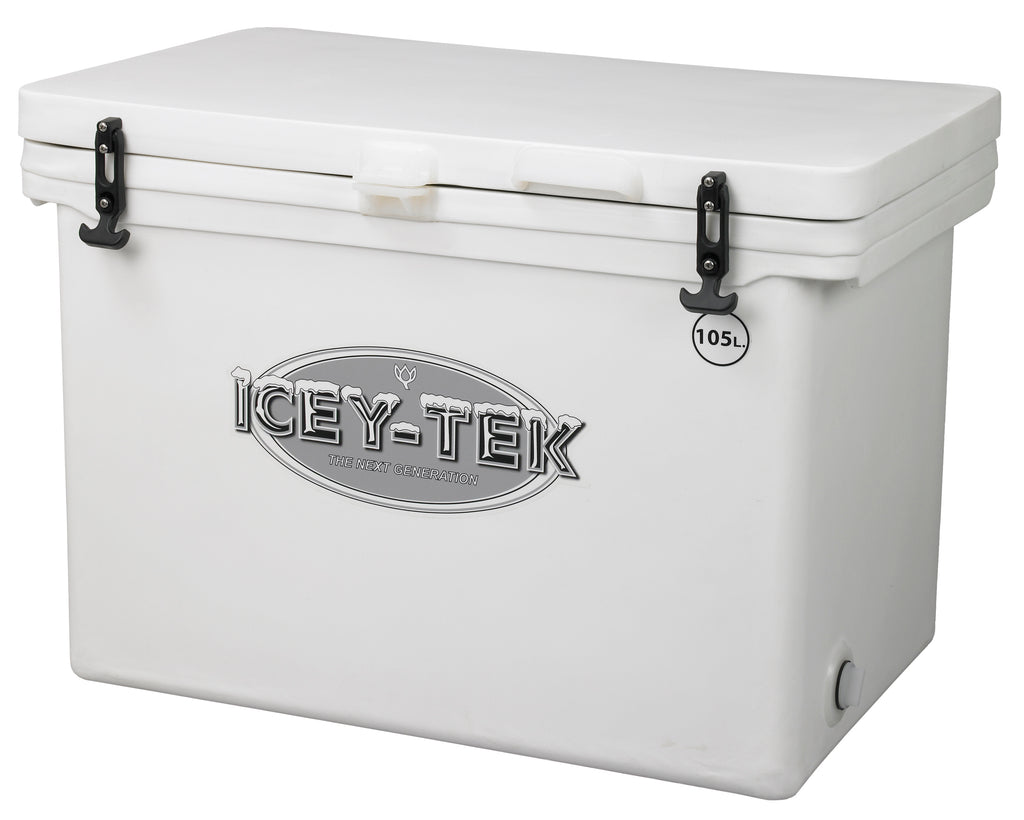Icey-Tek 105 Litre Cube Cool Box In White