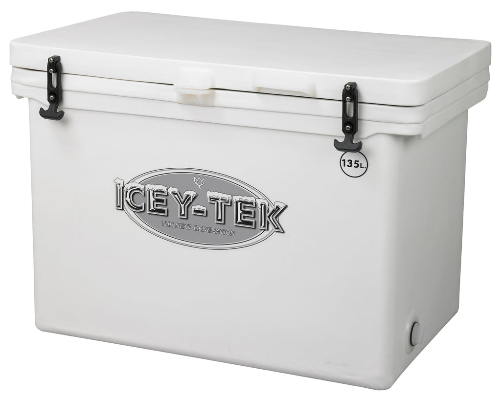 Icey-Tek 135 Litre Cube Cool Box In White