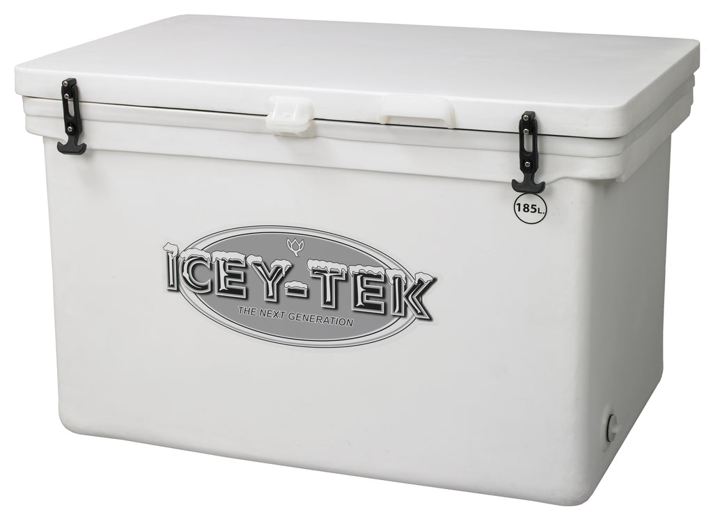 Icey-Tek 185 Litre Cube Cool Box In White