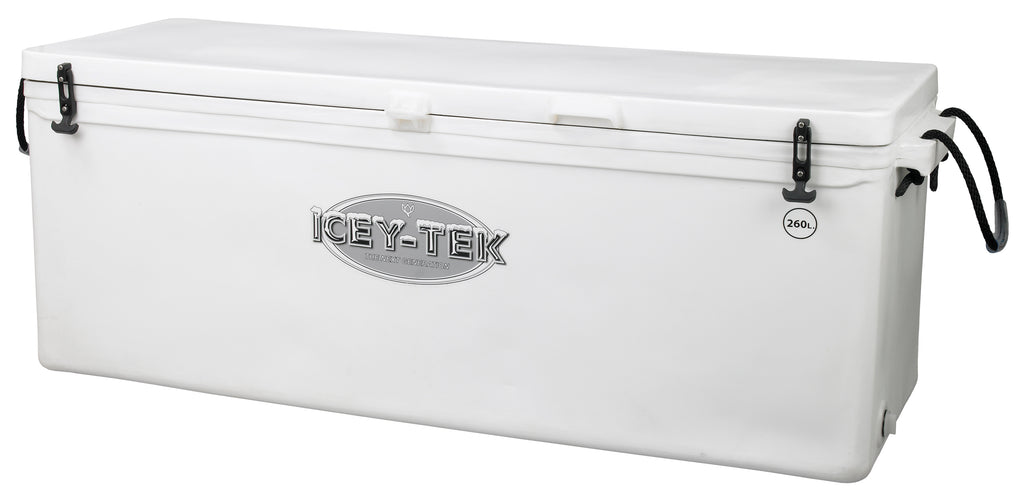 Icey-Tek 260 Litre Long Cool Box In White