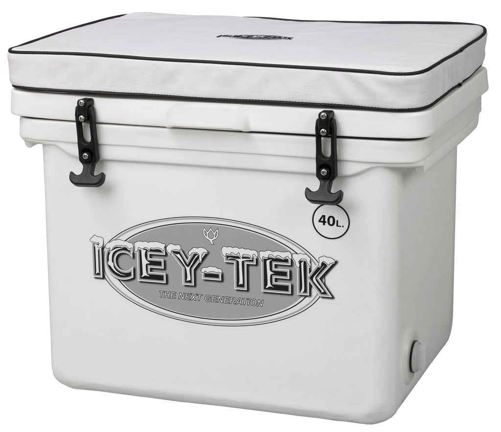 Icey-Tek 40 Litre Cube Cool Box With Seat Cushion