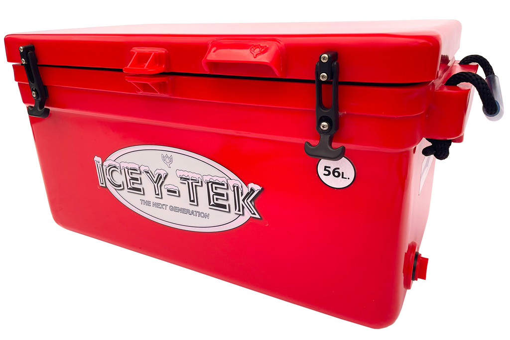 cey-Tek 56 Litre Long Cool Box In Red From Cool Boxes UK