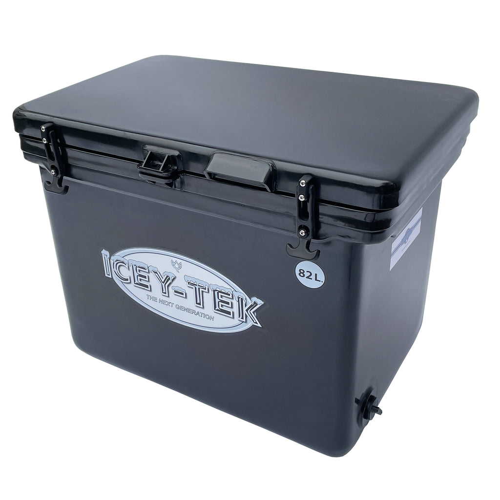 Icey-Tek 82 Litre Cube Cool Box in Black from Cool Boxes UK