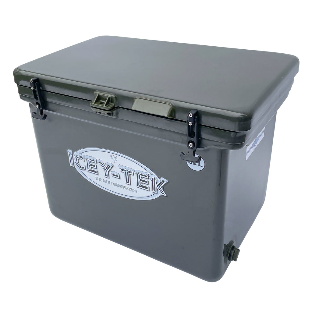 Icey-Tek 82 Litre Cube Cool Box in Khaki Green from Cool Boxes UK