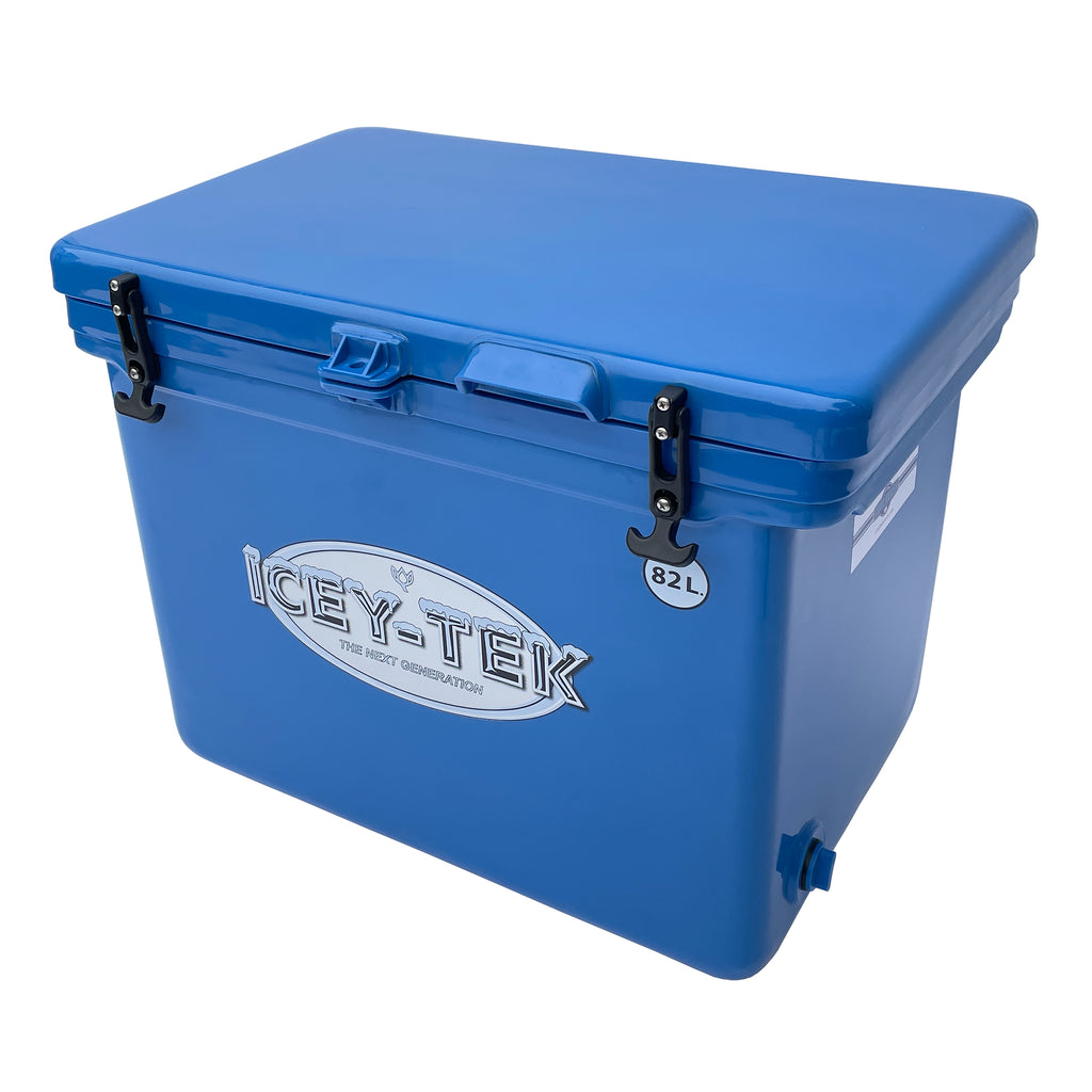 Icey-Tek 82 Litre Cube Cool Box in Ocean Blue from Cool Boxes UK