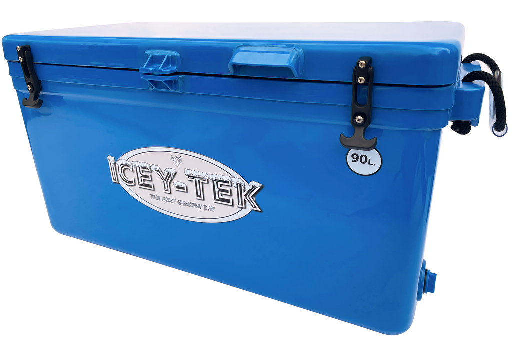 Icey-Tek 90 Litre Long Cool Box In Ocean Blue From Cool Boxes UK