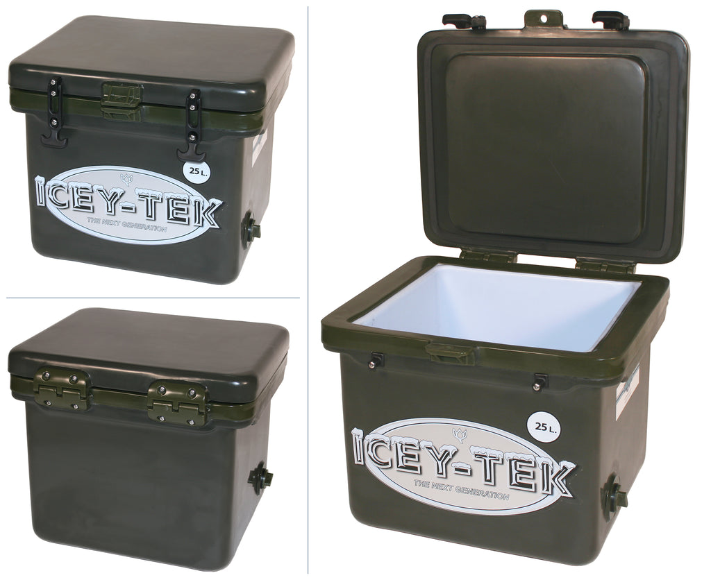 Khaki Green Icey-Tek 25 Litre Cube Cool Box
