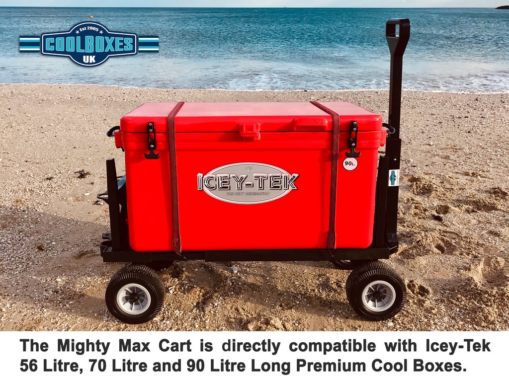 Mighty Max Cart Beach Picnic Icey-Tek Cool Box