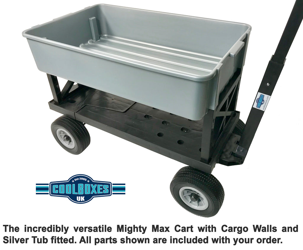 Mighty Max Cart Silver Tub and Black Wheels