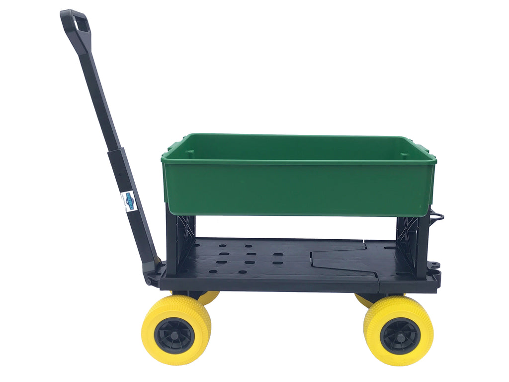 Mighty Max Cart Green Tub and Yellow Wheels