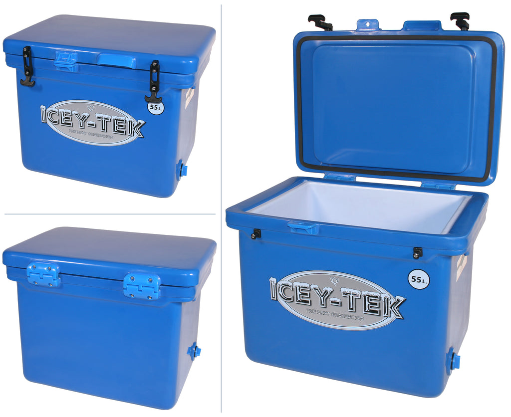 Icey-Tek 55 Litre Cube Cool Box In Ocean Blue