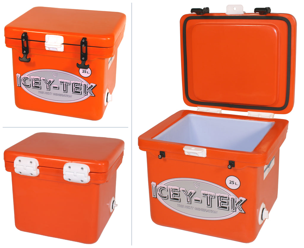 Orange Tangerine Icey-Tek 25 Litre Cube Cool Box