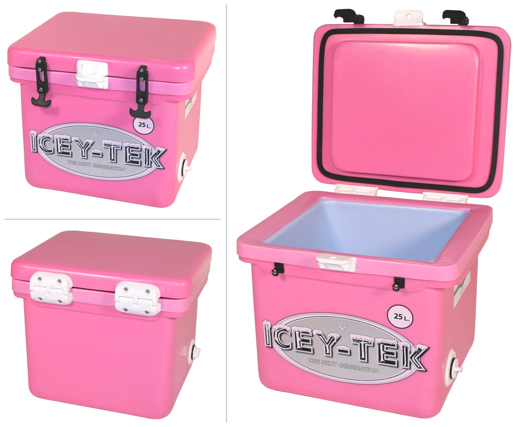 Pink Icey-Tek 25 Litre Cube Cool Box