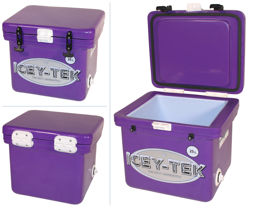 Purple Icey-Tek 25 Litre Cube Cool Box