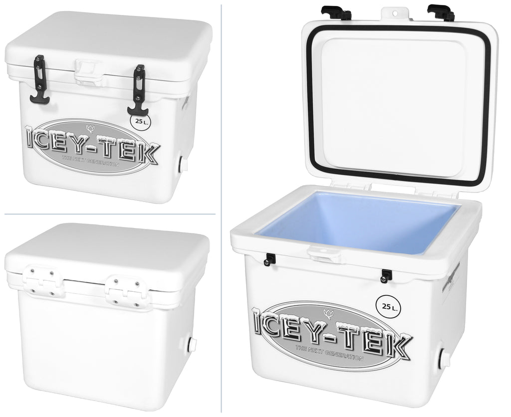 White Icey-Tek 25 Litre Cube Cool Box