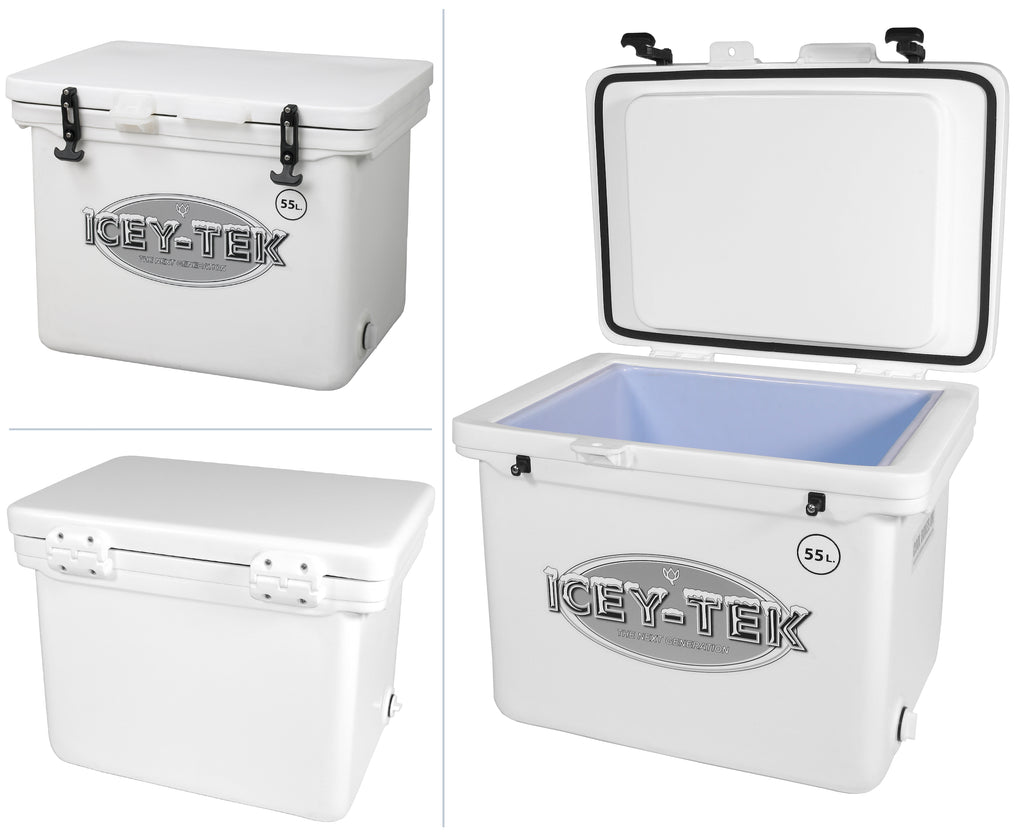 Icey-Tek 55 Litre Cube Cool Box In White
