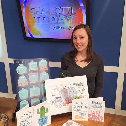 Hennel Paper Co. on NBC's Charlotte Today Show