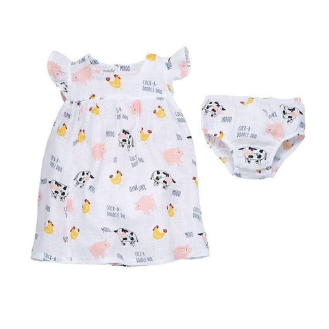 3-6 Months Mud Pie Muslin Farm Animal Dress