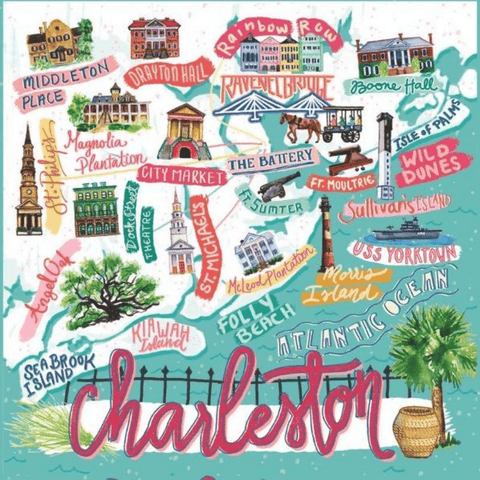 500 Piece Charleston Map Puzzle