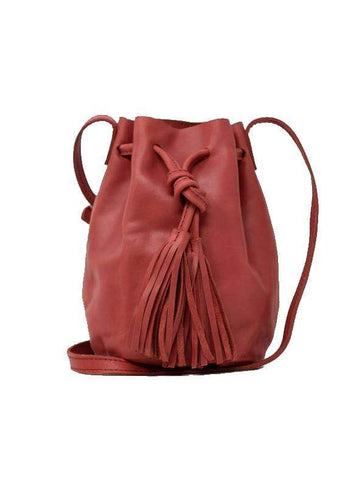 Able Maria Bucket Bag - Brick Red