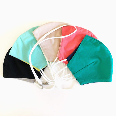 *Cabana Reversible Mask Collection - 5 Piece & Lanyard