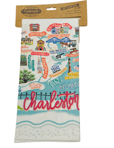 Charleston Map Kitchen Towel