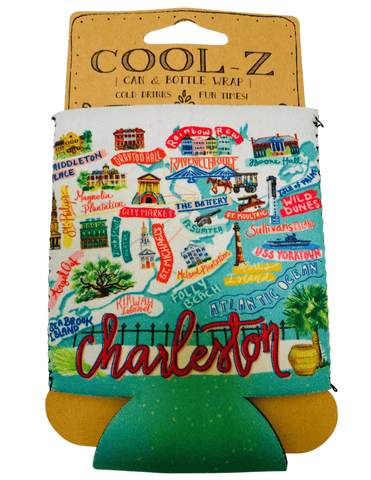 Charleston Map Koozie