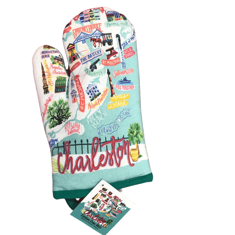 Charleston Map Oven Mitt