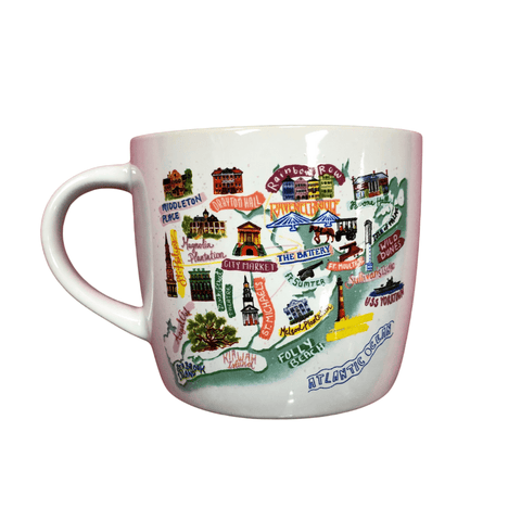 Charleston Map Stonewear Mug