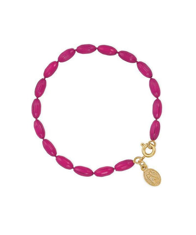Charleston Rice Bead Bracelet - Camelia