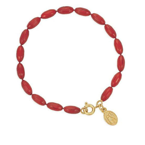Charleston Rice Bead Bracelet - Cinnamon