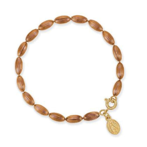 Charleston Rice Bead Bracelet - Copper