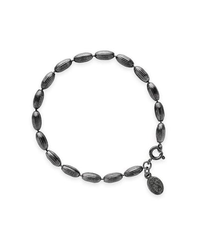 Charleston Rice Bead Bracelet - Gunmetal