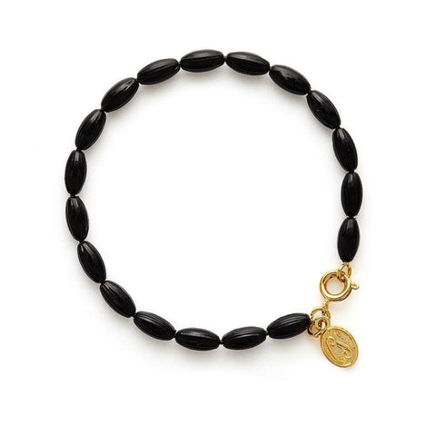Charleston Rice Bead Bracelet - Midnight