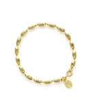 Charleston Rice Bead Bracelet - Shiny Gold