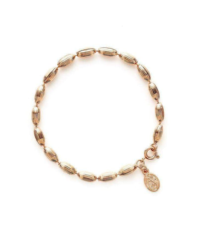Charleston Rice Bead Bracelet - Shiny Rose Gold