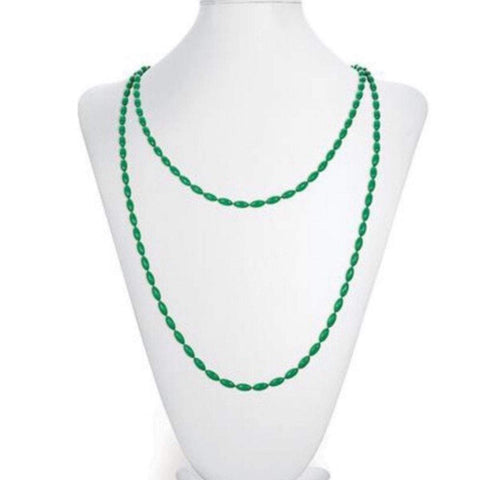Charleston Rice Bead Necklace - Garden Green