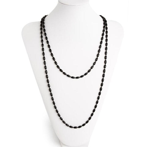 Charleston Rice Bead Necklace - Midnight