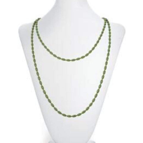 Charleston Rice Bead Necklace - Olive